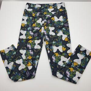 LuLaRoe Pants - LuLaRoe OS Legging RARE Disney Minnie Bow Floral
